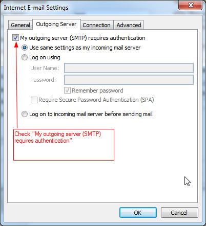 RunMail Outlook 2010 Setup - POP3 a