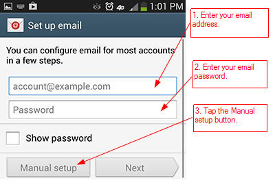 RunMail Android 4.x Setup - Step 2