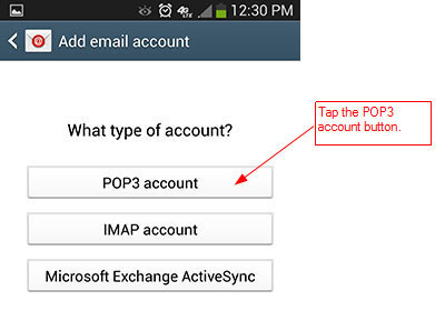 RunMail Android 4.x Setup - Step 3