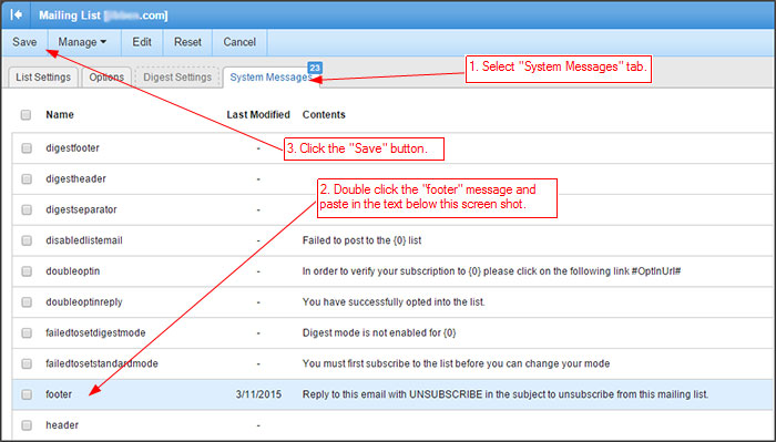 RunMail Mailing List Step 4